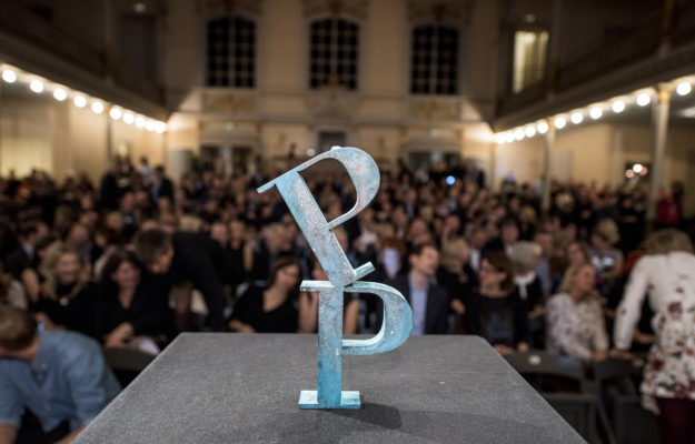 The Publishing Prize statuette.